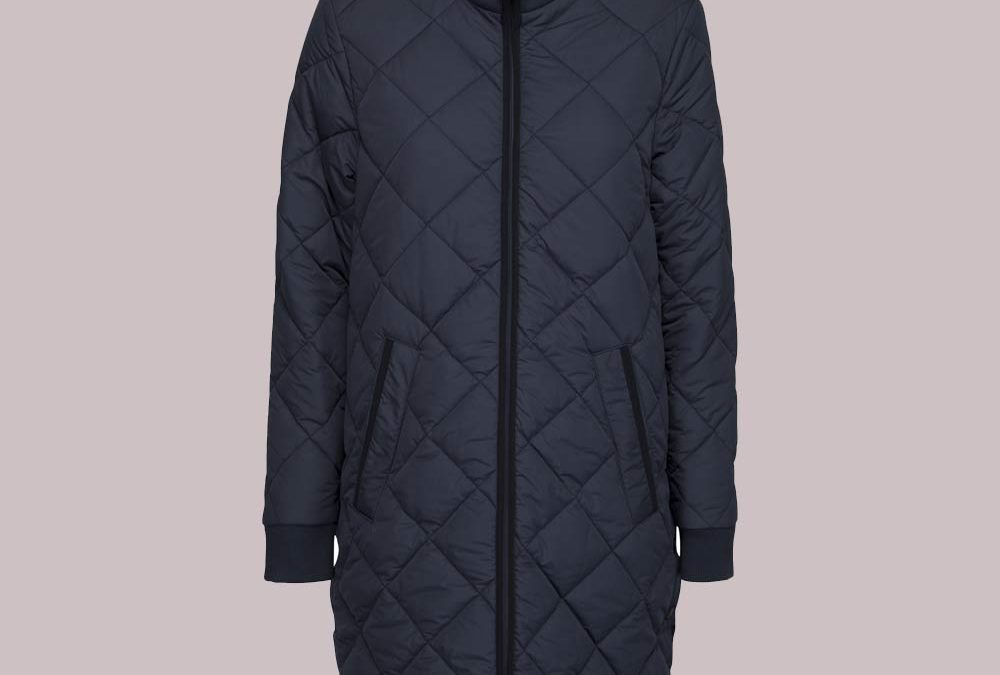 Ilse Jacobsen Long Padded Quilt Coat in India Ink