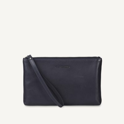 e507bc99aed Marimekko Tasku Pouch in Navy Leather