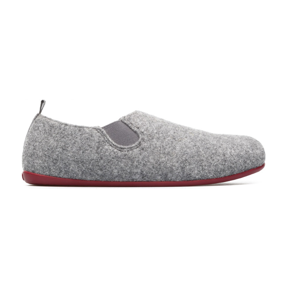df672c85cba Camper Wabi Men s Wool Slippers in Grey with Red Sole - The Laurels ...