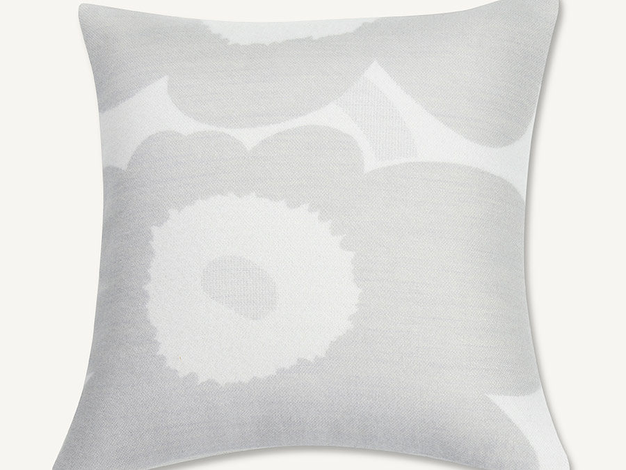 Marimekko Unikko Cushion Cover in Grey and White