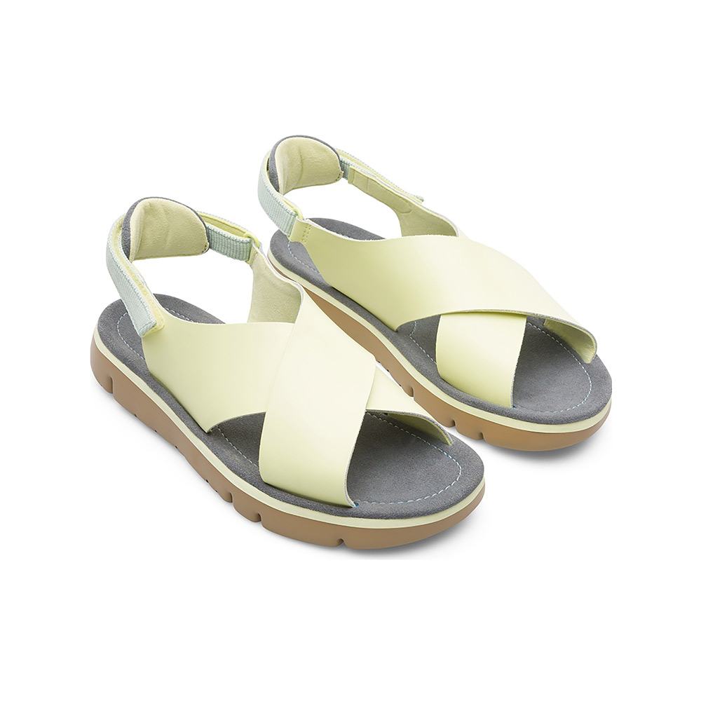 a8a36a1478e8 Camper Oruga Sandal in Lemon Satin Leather - The Laurels in Lewes