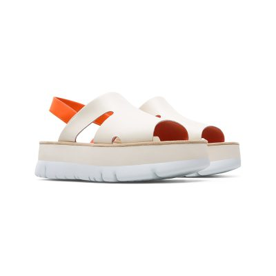 194087eb67c8 Camper Oruga Up Sandal in Beige and Orange