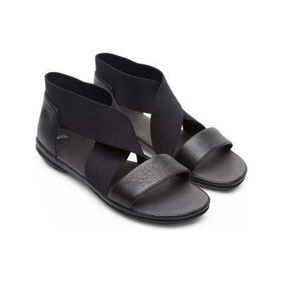 448166dff786 Camper Right Sandals in Black Leather