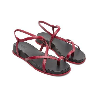fac6b8a17db Camper Atonik Sandal in Deep Red and Black